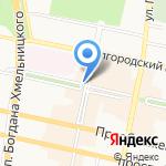 Газетный двор на карте Белгорода