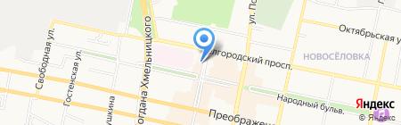 Прииск на карте Белгорода