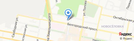 Городская детская поликлиника №3 на карте Белгорода