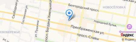 Букинист на карте Белгорода