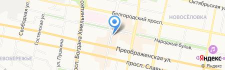 Милашка на карте Белгорода