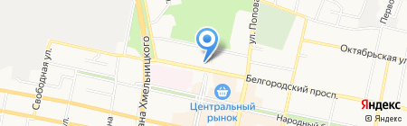 Красотка на карте Белгорода