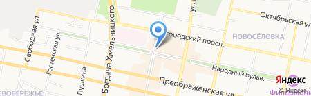 Золото-меха на карте Белгорода