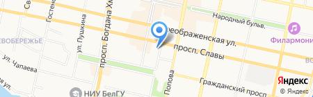 Управление Федеральной почтовой связи по Белгородской области на карте Белгорода