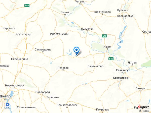 село Благодатное на карте