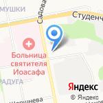 Сеть аптек на карте Белгорода
