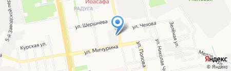 Горячий хлеб на карте Белгорода