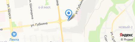 Колба на карте Белгорода