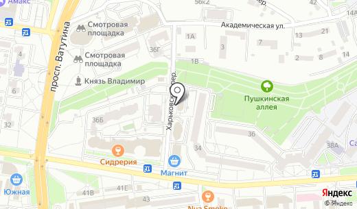 Милан. Схема проезда в Белгороде