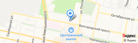 Жилищно-коммунальное управление на карте Белгорода