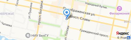 Департамент строительства на карте Белгорода