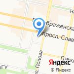 Белгородская областная Дума на карте Белгорода