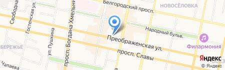 Департамент образования на карте Белгорода