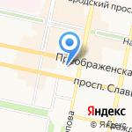 Преображение на карте Белгорода