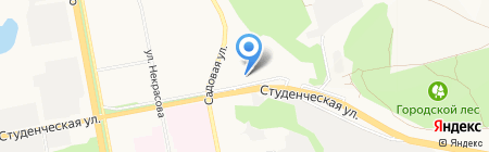 Общежитие №12 на карте Белгорода