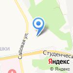 Белгородский университет кооперации на карте Белгорода