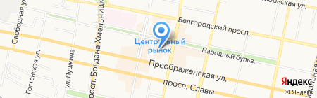 Портьер на карте Белгорода