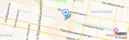 Магазин сувениров и подарков на карте Белгорода