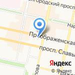 Преображенский кафедральный собор на карте Белгорода