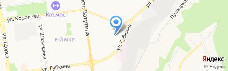 Гидродиво на карте Белгорода