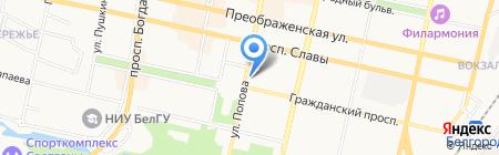 Единая Россия на карте Белгорода
