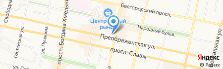 БелГУ на карте Белгорода