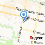 Управление по развитию потребительского рынка Белгородской области на карте Белгорода