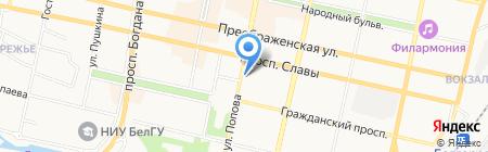Департамент агропромышленного комплекса Белгородской области на карте Белгорода