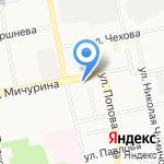 Теплоком на карте Белгорода