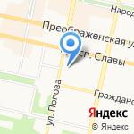 Городская детская поликлиника №1 на карте Белгорода