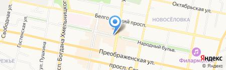 Пешеходshoes на карте Белгорода
