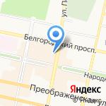 Оконные системы на карте Белгорода