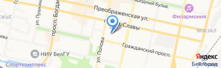 Отдел энергообеспечения и наружного освещения на карте Белгорода