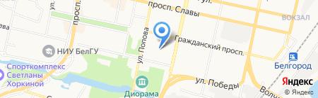 Планета фитнес на карте Белгорода