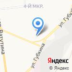 Лотос на карте Белгорода
