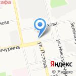 Свердловский районный суд г. Белгорода на карте Белгорода