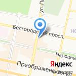 Центральная оптика на карте Белгорода