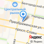 Банк Русский стандарт на карте Белгорода