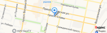 Газпром Межрегионгаз Белгород на карте Белгорода