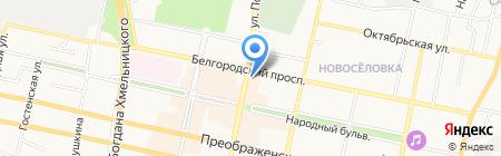 Парусник-Белгород на карте Белгорода