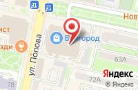 Схема проезда до компании Kawaii Factory в Белгороде