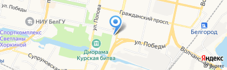 Северсталь-инвест на карте Белгорода