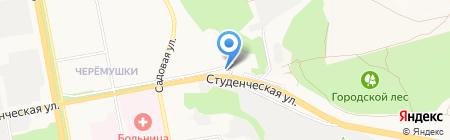 Продуктовый магазин на Студенческой на карте Белгорода
