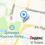 Банк ВТБ на карте Белгорода