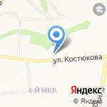 Зебра на карте Белгорода