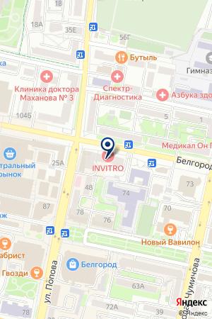 АКБ ПРОБИЗНЕСБАНК на карте Белгорода