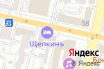 Схема проезда до компании Региональный Центр Автотехнической Экспертизы в Белгороде