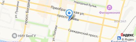Белпромнедвижимость на карте Белгорода