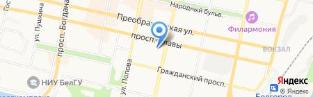 Инвестиционная палата на карте Белгорода