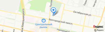 Управление потребительского рынка на карте Белгорода